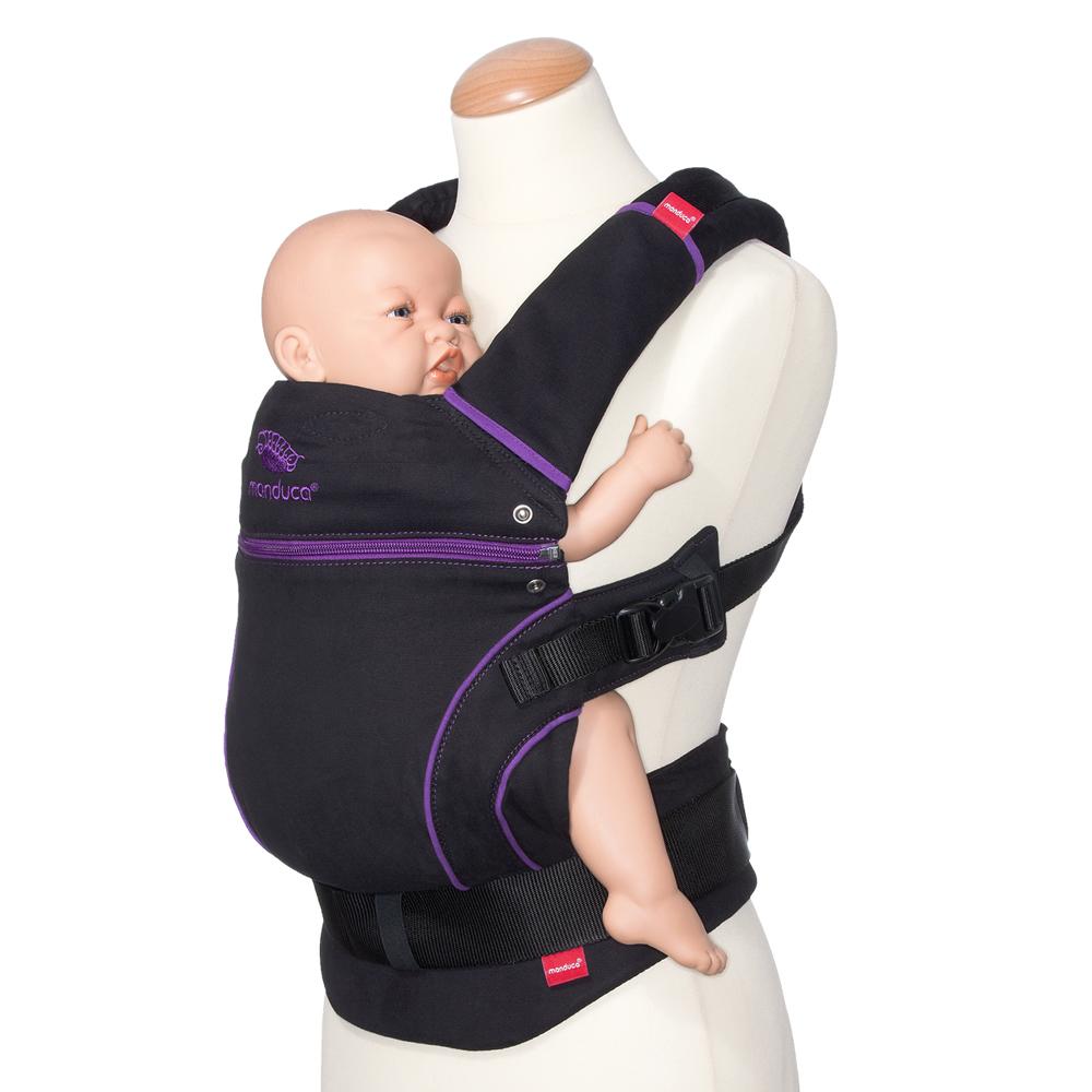 Manduca-Babytrage-Bauchtrage-Farbwahl-NewStyle-BlackLine-PureCotton